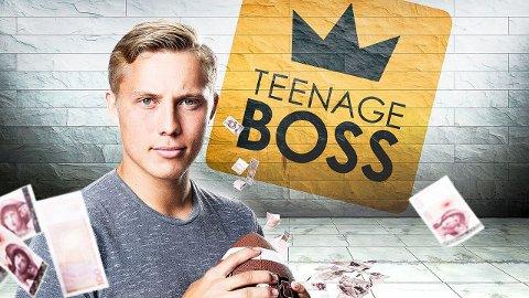 På tv: Vegard Gregersen er med i realityserien «Teenage Boss» på NRK. Programmet med sandegutten sendes onsdag 22. mars.Foto: Julia Marie Naglestad/NRK