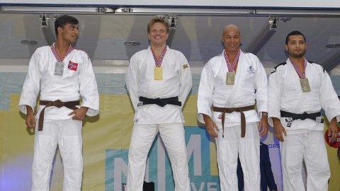 Bronse: Hani Alsaid helt til høyre i bilde med delt bronsemedalje.