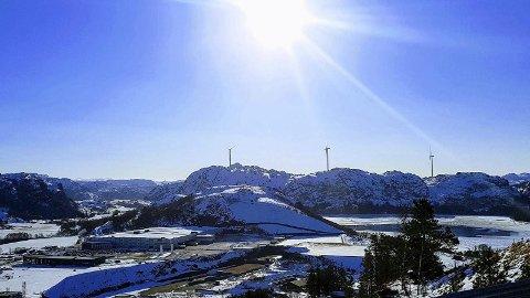 Vindkraft: I Rogaland har ASKO bygd egne vindturbiner i tilknytning til sitt distribusjonslager. Det kan bli aktuelt i Hanekleiva også, selv om det per i dag ikke er planlagt et slikt anlegg.foto: ASKO