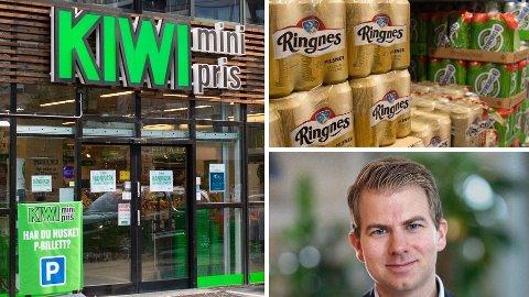 PÅVIRKES: Iman Winkelman i Virke Servicehandel sier at de frykter dagligvarekjedenes ølsalg-overskudd kan brukes til å utfordre bensinstasjonene enda mer. Foto: Alexander Winger (Nettavisen)/Nina Lorvik (Nettavisen)/Virke