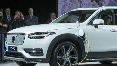 LADBAR: De ladbare bilene går sin seiersgang i det norske markedet. Volvo XC90 (over) er blant bestselgerne blant de ladbare hybridene i Norge.