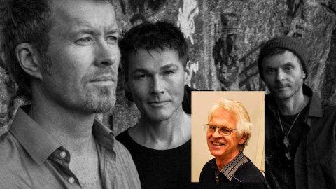 FIKK SANDEFJORDSHJELP: Arnfinn Nedland (innfelt) hjalp Magne Furuholmen, Morten Harket og Paul Waaktaar-Savoy under innspillingen av a-has nye album.