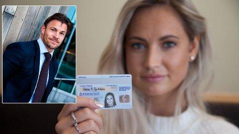 IKKE SIKKERT NOK: Personen på et bankkort kan være nærmest hvem som helst etter hvert som årene går. Sikkerhetseksperten Kjell-Ola Kleiven mener bankkortene er ubrukelige som legitimasjon.