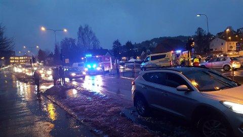 PÅKJØRSEL: Hendelsen skjedde ved krysset Sandefjordsveien/Høsts gate.