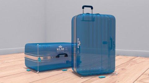 BAGASJESJEKK: Ved hjelp av en app skal du nå kunne sjekke størrelsen på bagasjen din kun ved hjelp av kameraet på mobilen din.