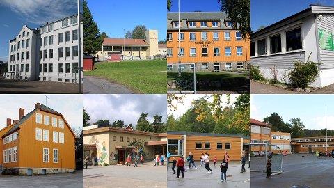 FORESLÅS NEDLAGT: Byskolen, Unneberg, Sande, Helgerød, Framnes, Vesterøy, Ormestad og Gokstad skole kan bli historie.