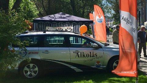 Alkolåsbilen, her fra stand på Bilmessa i 2017.
