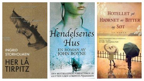 UKAS BOKTIPS: Sandefjordbibliotekene anbefaler en antikrigsroman og to kjærlighetsromaner.