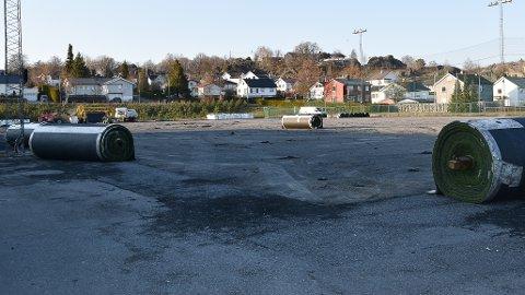 REHABILITERT: Gamle Stadion er oppgradert. 11. april 2019 så det slik ut. FOTO: Vibeke Bjerkaas