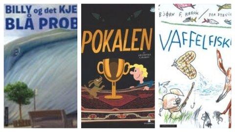 TRE BARNEBØKER: Sandefjordbibliotekene anbefaler tre barnebøker i uke 19.