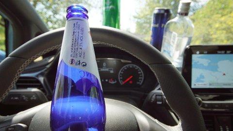 STRAFFET: Bilkjøring og alkohol skal ikke kombineres. Nylig ble en 72 år gammel Sandefjord-mann dømt for promillekjøring, etter at han kjørte bil med 2,86 i promille. (Illustrasjonsfoto: Broom)