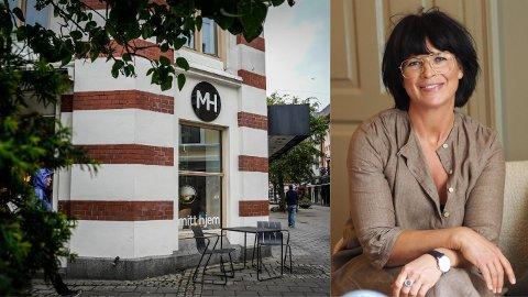 TIL SALGS: Butikkeieren Gro Anita Nilsen (t.h.) har lagt interiørbutikken Mitt Hjem ut for salg på finn.no.