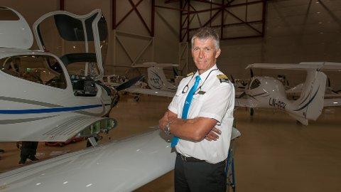 Pilotskolen har mange egne fly som benyttes i undervisningnen.