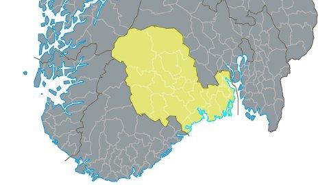 ENDRING TRÅDD I KRAFT: Fra 1.januar er Telemark historie, nå er det Vestfold og Telemark fylkeskommune som gjelder.  Foto: Kartverket