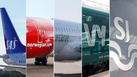 KOMPENSASJON: Fly- og togselskapene har få kompensasjonsordninger som skal hindre syke fra å reise. Foto: NTB / Montasje: Nettavisen