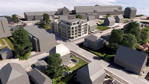 LEILIGHETER: I krysset Schanches gate/Rosenvolds gate er det nå klart for nybygg med 17 leiligheter. (Illustrasjon: Spir Arkitekter)