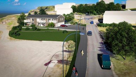 REVET VEKK: De fem leilighetene i Rismyrveien 8 i Kodal ble solgt før prospektet var lagt ut. (Illustrasjon: Kodal Bygg)