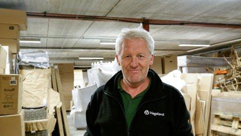 DYRE FORSINKELSER: Avdelingsleder Geir Mellingen for Hageland Gjennestad er fortvilet over handelsbremsen.