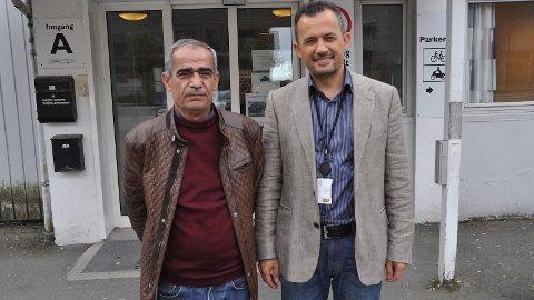 INTEGRERING: Syriske Mohammed Said Sharro (t.v.) sette pris på kurset om integrering frå Farid Ghiami.