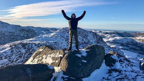 SANDNES' HIMALYA: Mitt fjellparadis i Sandnes kommune. Her ligger Sandnes høyeste topper på rekke og rad.