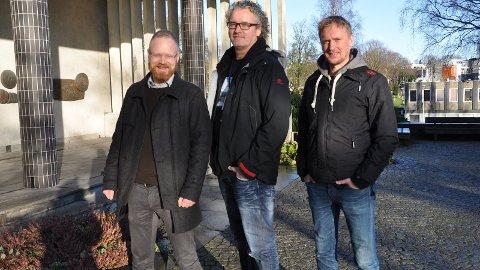 UKM: Dei er komne langt i planlegginga av årets nasjonale UKM-festival, som for fyrste gong blir arrangert i Sandnes i juni. Egil Ovesen, prosjektleiar, Roald Brekke, arrangementsansvarleg og Kurt Lisø, kunst- og fagansvarleg, gler seg.