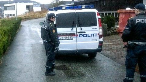 INNBRUDD: Det var i dag morges politiet fikk melding om innbruddet i Frafjordgata.