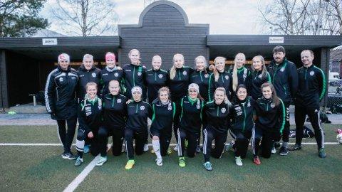 2017: Dette bildet ble tatt av damelaget i 2017. Suksessen fortsetter og laget kan spille 2. divisjon i 2020
