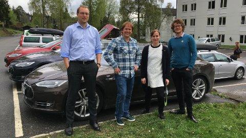 TIL LANDSMØTE: Andreas Nordang Uhre (nylig flyttet til Sandnes), Erlend Kristensen, Alexandra Gjerdrum og Jon Torger Hetland Salte deltok i helgen på MdGs landsmøte i Lillehammer.