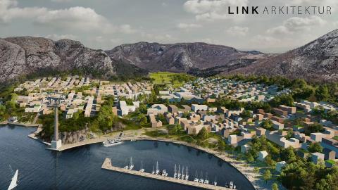 NYE DALE: De nye eierne og investorene Bjørn Rygg og Thor Steinar Sandvik ønsker å bygge 7000 boliger på Dale. En gondolbane skal på få minutter frakte folk over Gandsfjorden til Gausel stasjon.