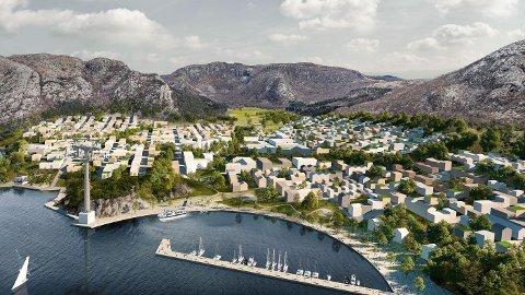 NYE DALE: Investorene og eierne Bjørn Rygg og Thor Steinar Sandvik ønsker å bygge en ny, selvforsynt bydel på Dale.