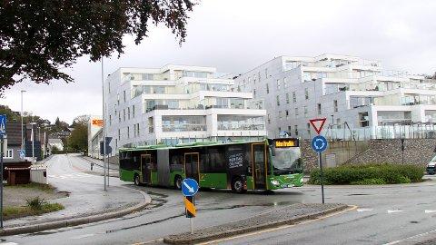 SKIPPERGATA: I framtiden kan Skippergata bli stengt for biltrafikk når bussveien kommer her.