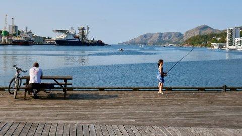 REKREASJON: Stanley Wirak har sendt en henvendelse til fylkesmannen med ønske om å oppheve fiskeforbudet som tidvis er gjeldende i indre havn.