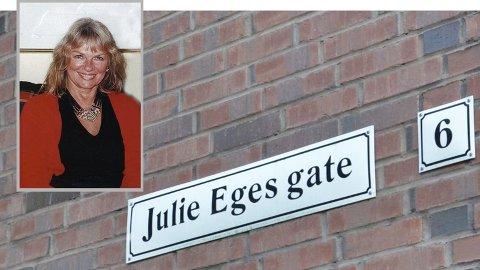 [b]HEDER: [/b]Julie Ege er en av få betydningsfulle sandnesgauker som allerede har fått en gate kalt opp etter seg.