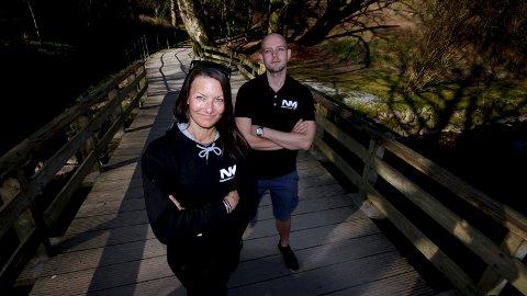 SANDVEDPARKEN: Her, gjennom Sandvedparken, slippes 1200 deltakere løs når Northmann Challenge 2019 arrangeres 4. mai. Katrine Friis-Ottessen og Martin Kistle, som er to av fire arrangører, gleder seg så mye at de begynner så smått å slite med nattesøvnen.