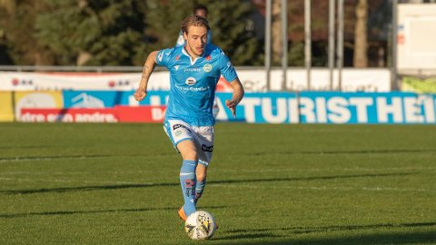 SCORET: Matteo Vallotto scoret ett av målene mot Riska. Bildet er tatt i en kamp for A-laget.