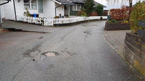 RASK FIKS: På bare en uke ble dette hullet fikset på Glettefjell.
