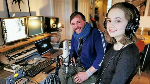 MUSIKKFAMILIE: Lisa Marie Haugan har alltid vært en sjenert jente, men sett opp til faren Tommy Haugan som er trommis og godt plantet i musikkmiljøet.