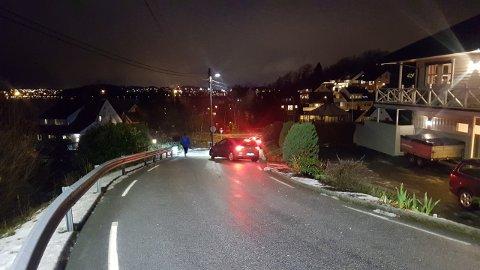 Her i Fjogstadveien opp til Dalsnuten er det rett og slett såpeglatt.