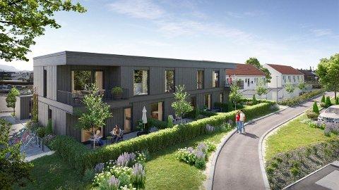 Slik vil fasaden på deler av Sandved Hageby se ut.