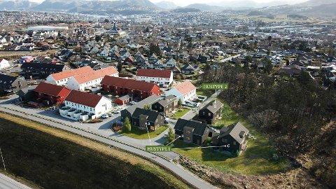 Slik har Systemhus planlagt området, men kjøper får mye å si på hvordan boligene skal se ut.
