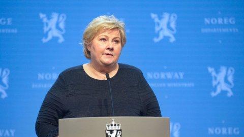 Statsminister Erna Solberg kom med flere vaksinenyheter på onsdagens pressekonferanse.