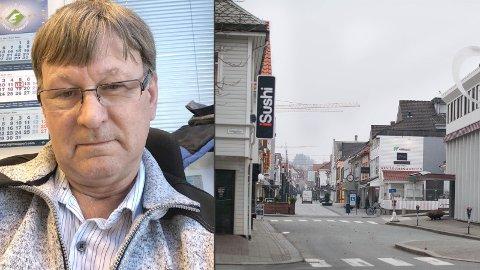 GOD BY: Oddbjørn Helge Gramstad (67) fra Bogafjell synes Sandnes har mange sterke kvaliteter, men han ønsker seg enda mer liv i Langgata.