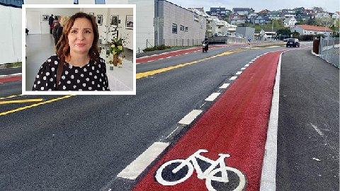 FART: Karianne Arntzen mener fartsgrensen på 50 km/t i Austråttbakken er for høy og at det fører til mange farlige trafikksituasjoner.