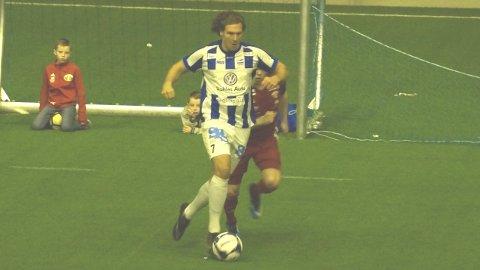 Dag Tore Bergerud spilte en god kamp og scoret sitt første mål for SFK. Kråkerøy ble allikevel for sterke og SFK er ute av romjulscupen.
