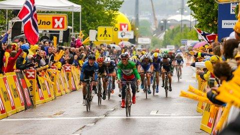 Sykkelrittet Tour of Norway hadde målgang i Sarpsborg. FOTO: Thomas Andersen