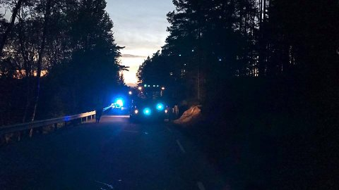 Én bil var søndag kveld innvolvert i en trafikkulykke ved Bøklevene i retning halden.