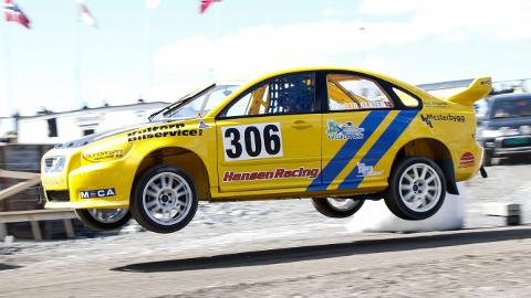 GOD START: Rallycross og bakkeløp-kjører Kenneth Hansen fikk en god start på sesongen. Foto: Privat.