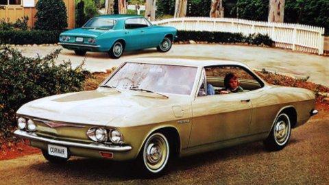 Corvair er en bil som fikk et ganske tvilsomt rykte, for å være farlig å kjøre ...