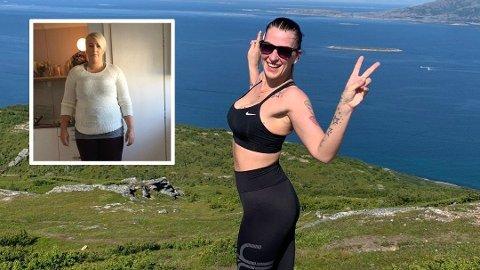 BEDRE HUMØR: Cecilie Falch fra Bodø sier at hun er som en helt ny person etter at hun tok slankeoperasjon og begynte å trene.