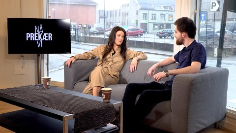 GJEST: Malin Schavenius gjester «Nå prekær vi»på sa.tv. Til høyre: Vetle Granath Magelssen